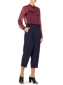Sportmax Code Cobra pleat front turn up trousers