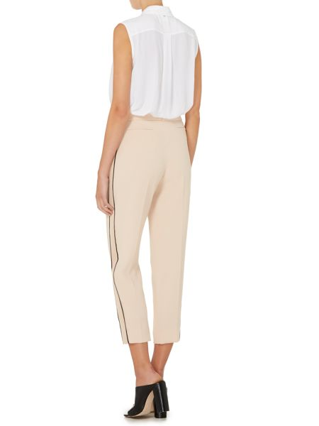 Sportmax Code Adler contrast strip belted trousers