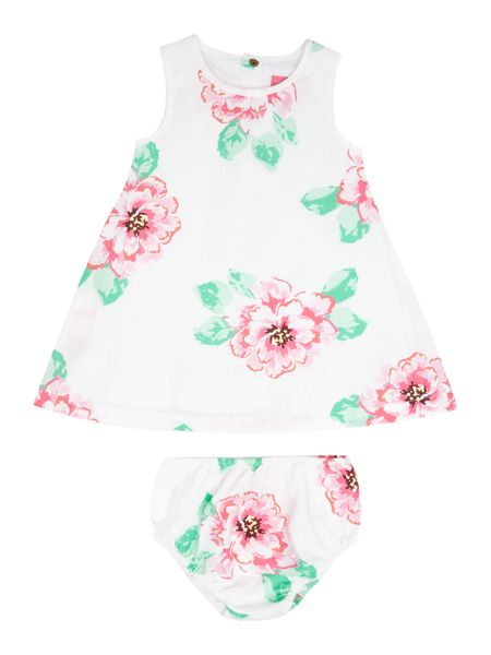Joules Girls Floral dress with pants set