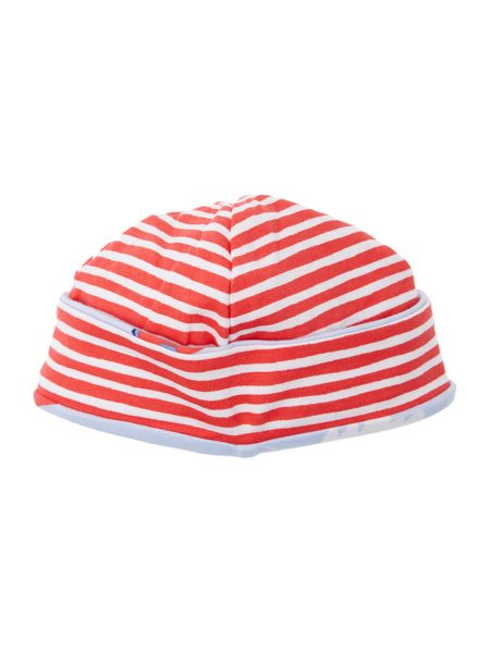 Joules Boys Reversible planes and stripe print hat