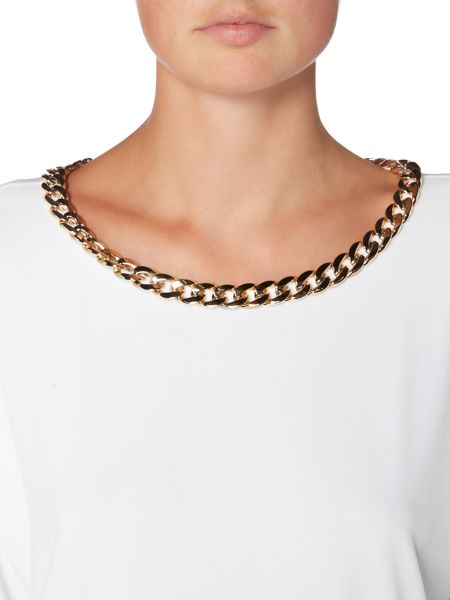 Episode Relaxed jersey top with chain detail