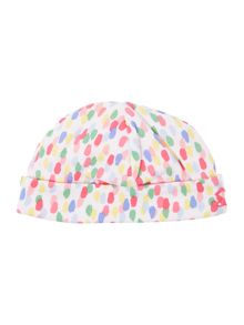 Girls Reversible Jelly bean and stripe print hat