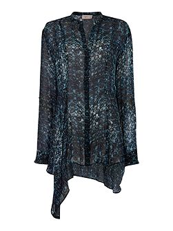Label Lab Tile print long tail blouse