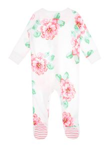 Girls Floral print all in one