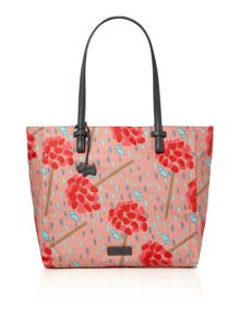 Flower shower multicoloured large tote bag