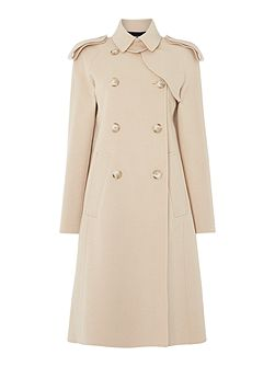 Palma belted wool trench coat