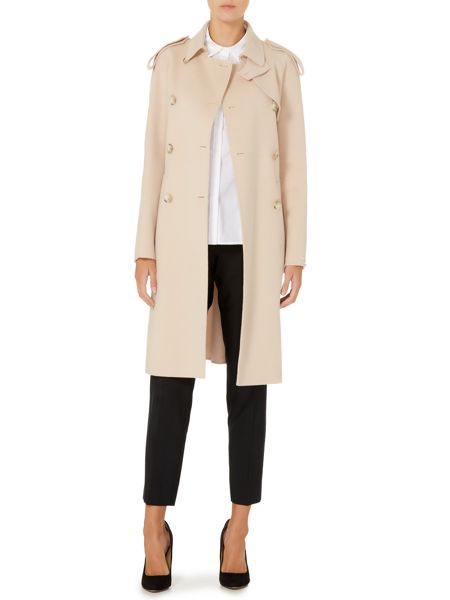 Sportmax Code Palma belted wool trench coat