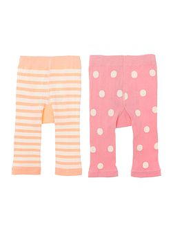 Joules Girls Cat and Mouse 2 pack leggings