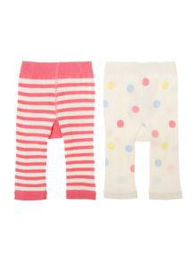 Joules Girls Hare and Horse 2 pack leggings