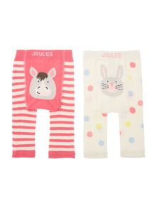Girls Hare and Horse 2 pack leggings