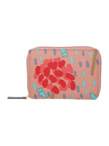 Flower shower multi coloured medium zip purse