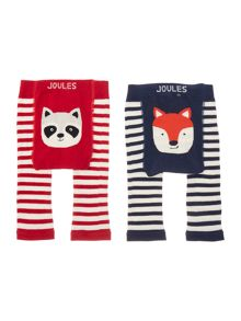 Boys Fox and Racoon 2 pack leggings