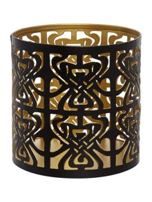 Biba Biba logo votive Black and Gold