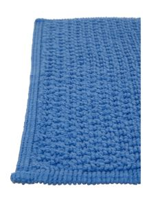 Linea Cotton bobble pedestal mat in cornish blue