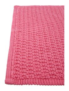 Linea Cotton bobble pedestal mat in hot pink