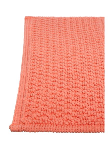 Linea Reversible Bobble Pedestal Mat in Coral