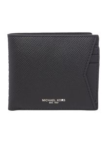 Billfold leather wallet with a pull out card case