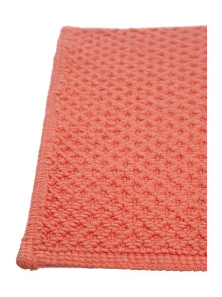 Linea Cotton bobble reversible bathmat coral