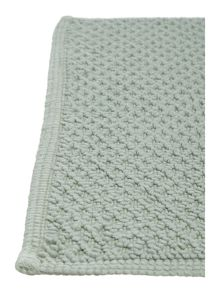 Linea Cotton bobble reversible bathmat duck egg