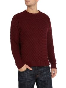 Heany crew neck cable knit jumper