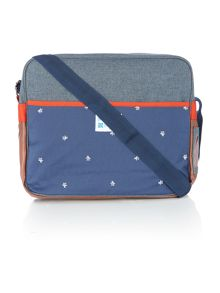Colour block messenger bag