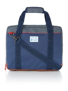 Colour block commuter bag