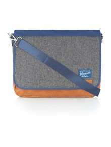 Tweed messenger bag