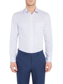 Howick Tailored Acton Stripe Shirt with Classic Collar