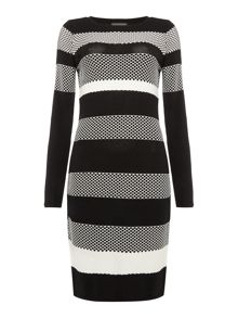 Vince Camuto Honeycomb knit dress