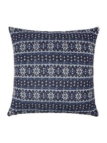 Linea Fairisle knitted cushion