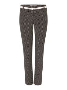 Lesena straight leg printed trouser