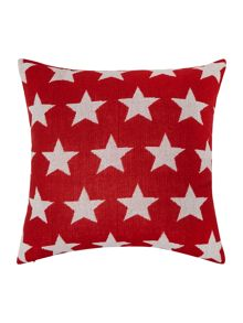 Star knitted cushion