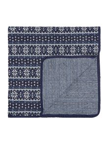 Linea Fairisle knitted throw