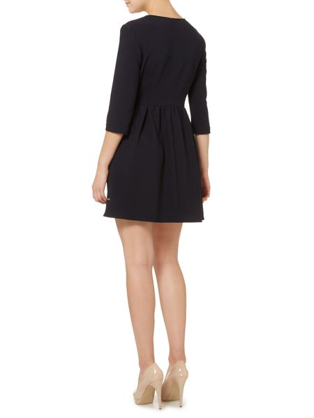 Hugo Boss 3/4 sleeve fit and flare dress