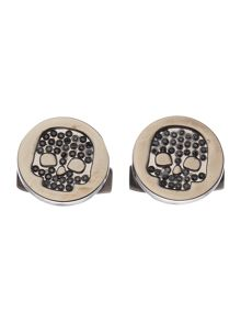Crystal Skull Embellished Cufflinks
