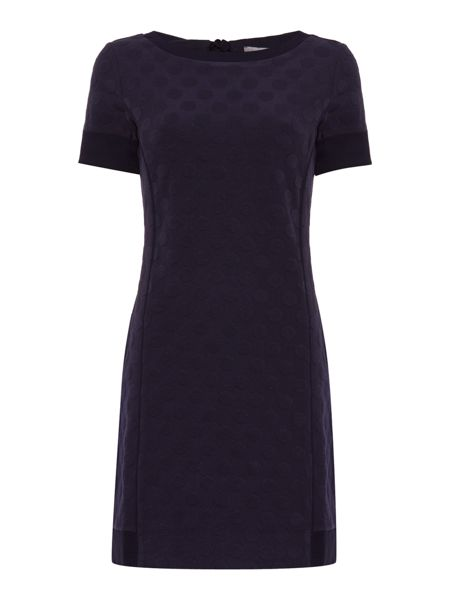 Marella Udine round neck shift dress with back bow detail