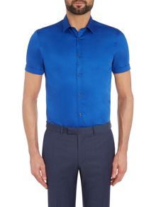 Kenneth Cole Rhett Satin Short Sleeve Shirt