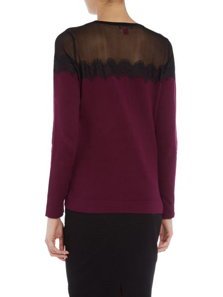 Vince Camuto Lace trim jumper