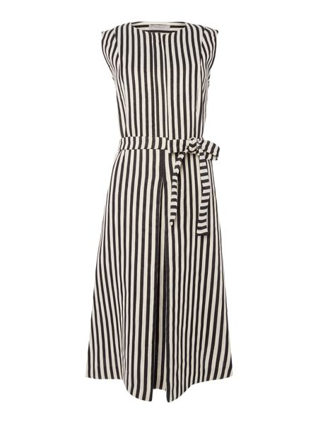 Marella Ema sleeveless dress with tie waist detail