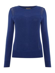 Vince Camuto Mixed stitch jumper