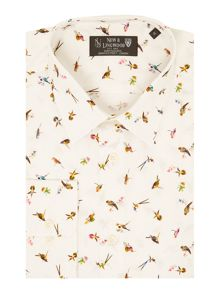 New & Lingwood Edgware Bird Print Shirt