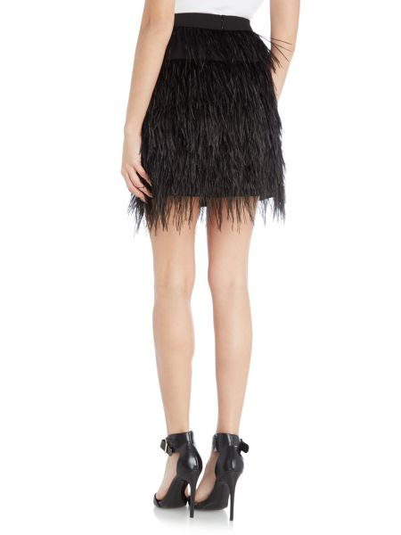 Vince Camuto Tiered feather skirt