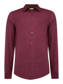 Slim fit embroidered logo shirt