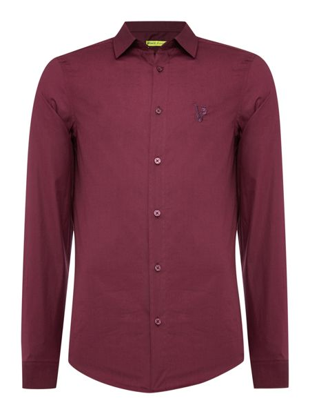 Versace Jeans Slim fit embroidered logo shirt