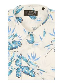 New & Lingwood Brentford Botanical Print Shirt