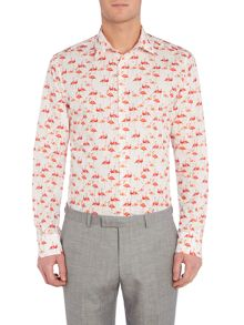 New & Lingwood Patton Flamingo Print Shirt