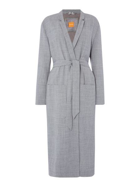 Hugo Boss Long belted coat with lapel