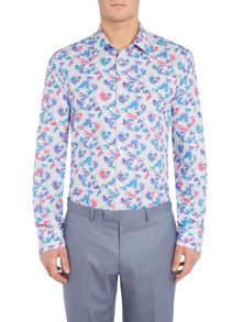 New & Lingwood Hendon Tropical Print Shirt
