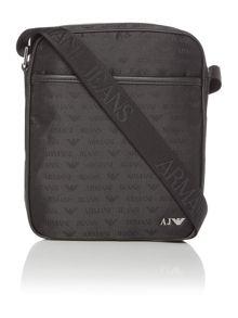 Armani nylon zip top flightbag