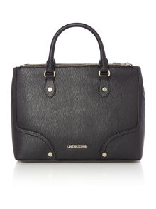 Love Moschino Metal black grab tote bag